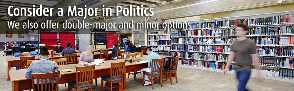 Consider a major in politics